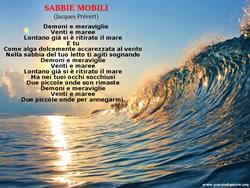 POESIA SABBIE MOBILI, Jacques Prévert