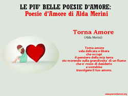 TORNA AMORE, Alda Merini