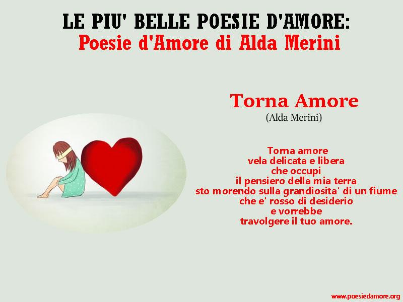 POESIA D'AMORE TORNA AMORE ALDA MERINI